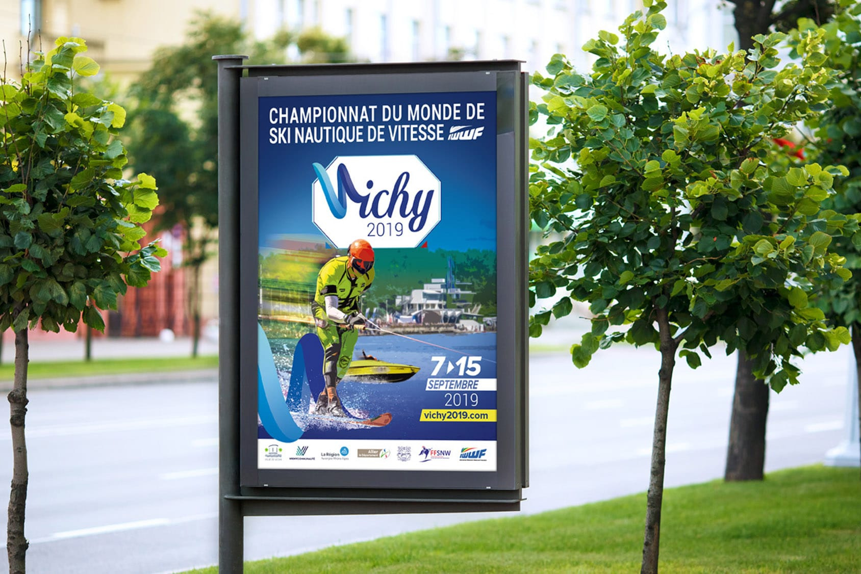 Affiche Championnat du Monde de Ski Nautique de Vitesse de Vichy