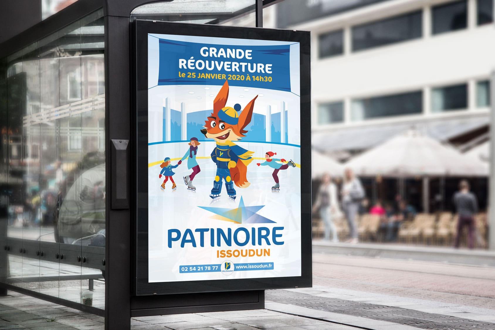 Logo, mascotte et affiche Patinoire d'Issoudun