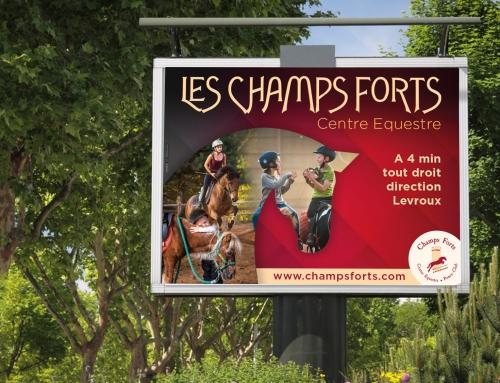 Affiche 4x3m Centre Équestre Les Champs Forts