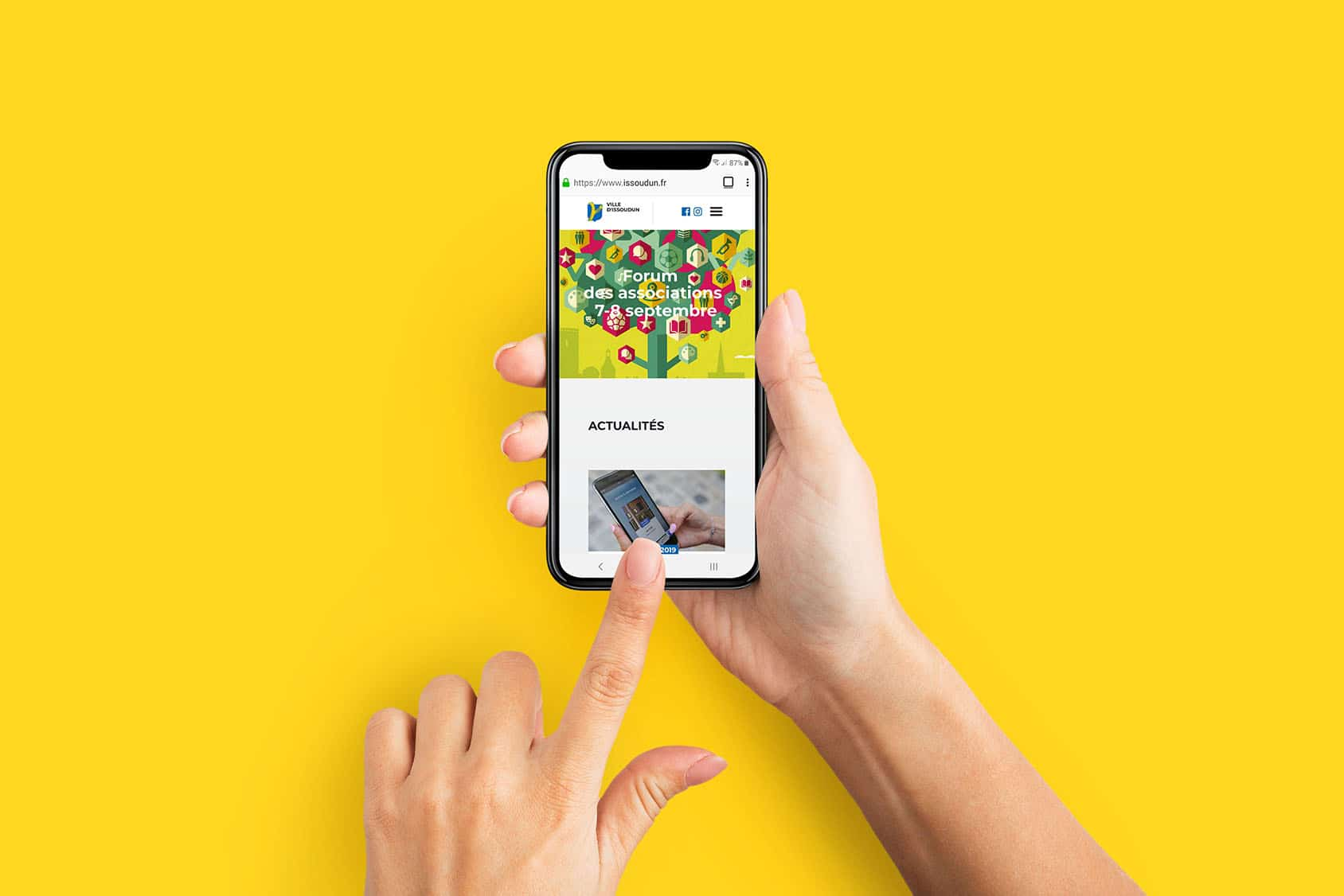 Site d'Issoudun sur mobile